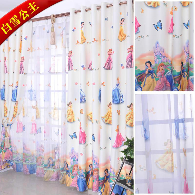 buy modern child curtain finished cartoon princess girl kids curtain for living room cortinas para sala de luxo child curtain kids from