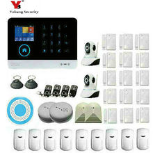 Yobang Security wireless wifi gsm alarm system TFT display door sensor home security alarm systems Wire Siren Kit SIM Alarm