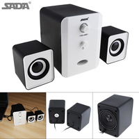 Portable 3W Mini Combination Mega Bass Subwoofer Speaker Column Computer Loudspeaker With 3 5mm Audio Plug