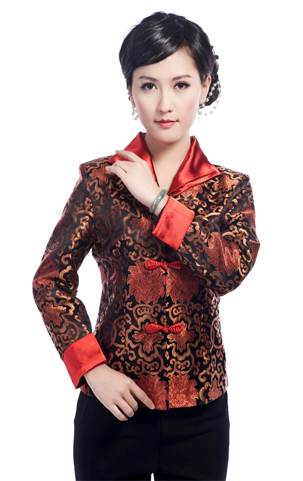 Women's Clothing Hottest Chinese Style Lady Silk Satin Overcoat Vintage Turn-down Collar Jacket Single Button Coat Tang Suit Size S To 4xl