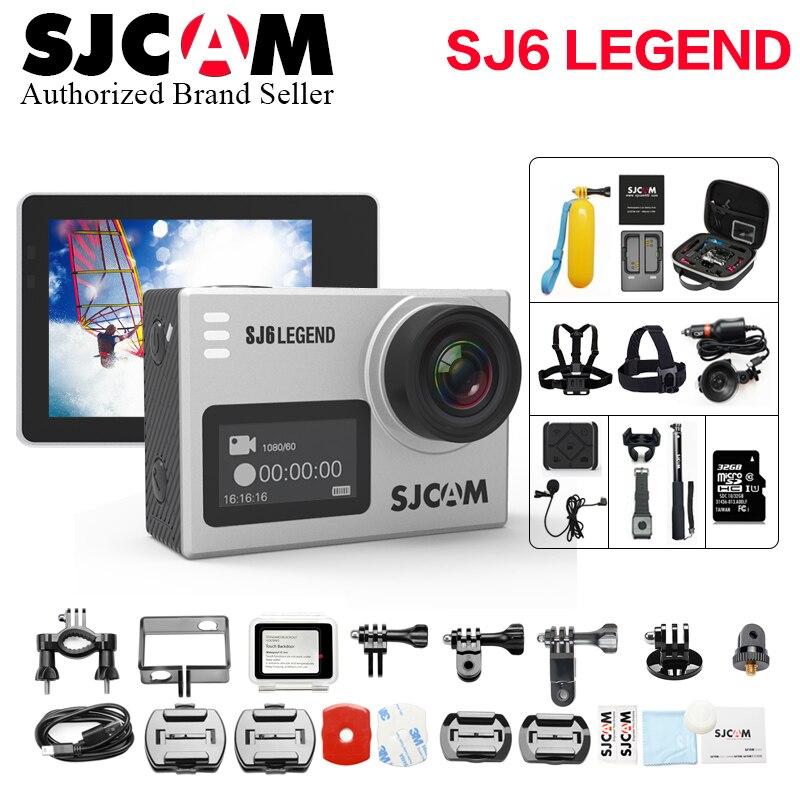 SJCAM SJ6 LEGEND Ultra HD 4K 24fps WiFi 2,0 Touchscreen Notavek 96660 Fernbedienung Wasserdichte Helm Cam Kamera besser wifi Cam