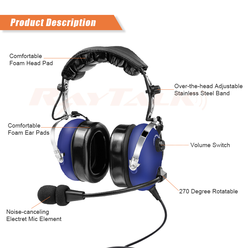53cc4bf37bd Noise cancelling boom mic Aviation headset / Pilot headset PH-100A.  PH-100A2_01 PH-100A2_02 PH-100A2_03 ...