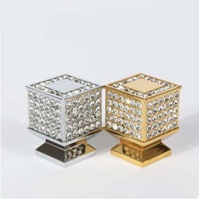 Modus Fashion Deluxe Strass Villadom Möbel Knöpfe Gold Silber Glas