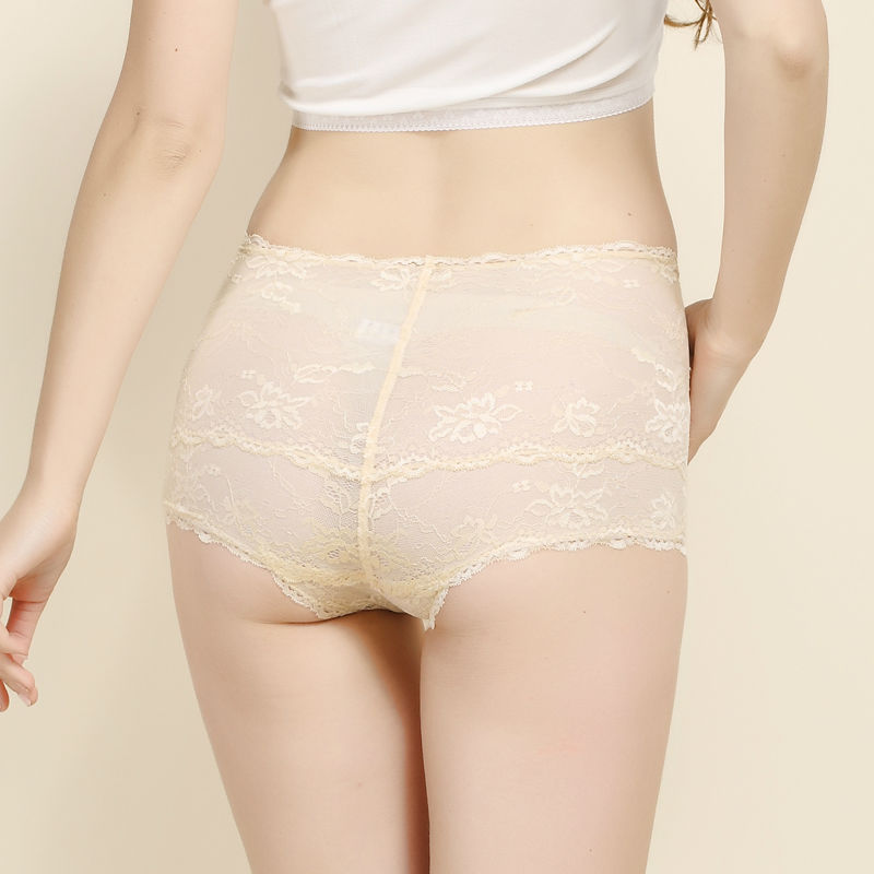 SILK women PANTIES Natural silk Lace panties High-rise Boyshort Women Sexy underwear Women Boxer lingerie calcinha 2017 new