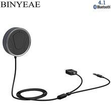 Kit Mãos Livres Bluetooth 4.1 CSR8635 Binyeae Telefone chamando Kit Estéreo de 3.5mm Receptor de Música de Áudio Do Carro USB Aux Adaptador siri suportado