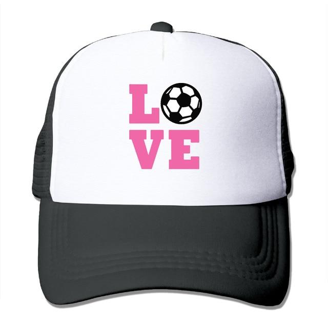 6e805321efd DUTRODU For Men Women Baseball-caps Mesh Back I Love Soccer Cap Hats hip  hop hat vary colors breathable