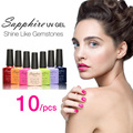 Sapphire 10Pcs/set Nail Gel Newest 80 Fashion UV Gel Polish 7.3 ML Soak Off Nail Gel Polish Best on AliExpress