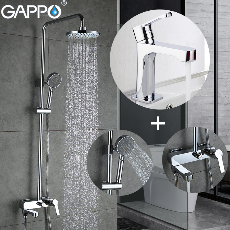 GAPPO shower faucets set bathtub mixer bath rain shower tap Basin Faucet basin mixer taps  Sanitary Ware Suite