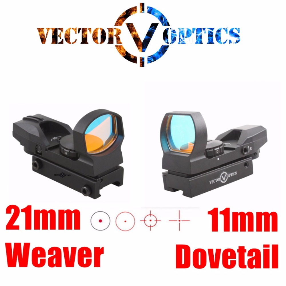 Vector Optics IMP 1x23x34 Multi Reticle Reflex Red Dot Rifle Scope Sight With Weaver Or Dovetail Mount Base For Real Shock Proof
