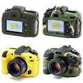 Macia da Borracha de Silicone Pele Caso Capa de Proteção Do Corpo Da Câmera Para Nikon D7100 D7200 Saco Da Câmera