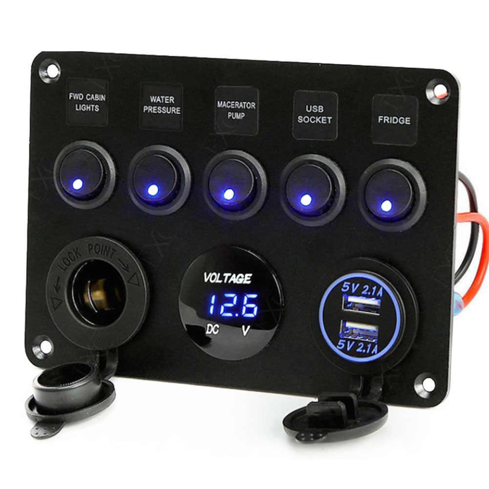 Зарядное устройство прикуривателя переключатель Панель разъем светодиодный