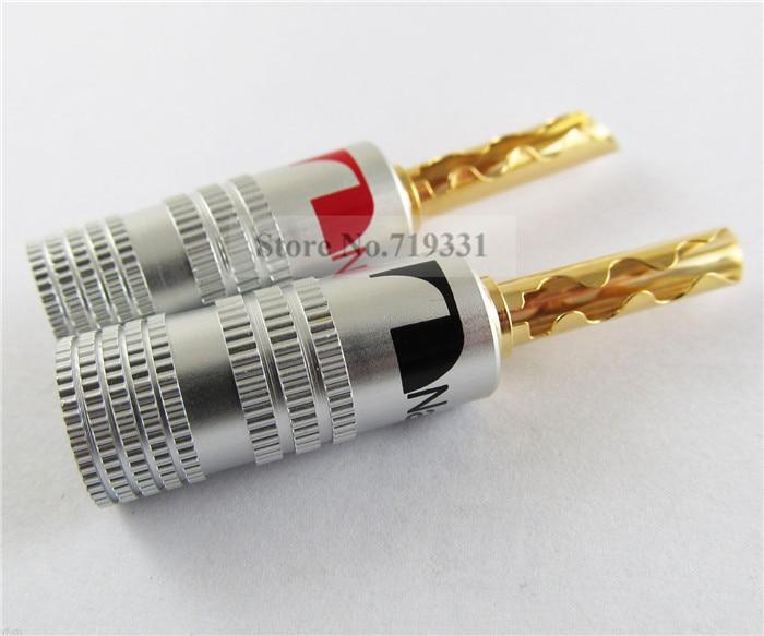 2pcs Nakamichi 24K Gold Plated Copper BFA 4mm Banana Plug Male Speaker Connector