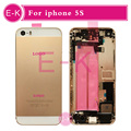 Gold Silver Gray Rose Gold New Complete For iphone 5S Full Middle Frame Housing Cover Assembly with Flex Cable Free Custom IMEI