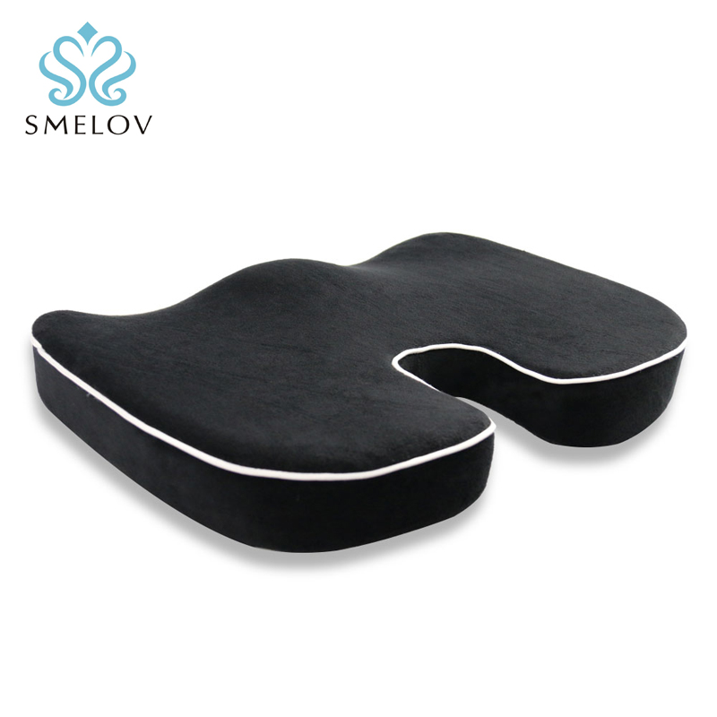 Luxury Home Office Memory Foam Seat Cushion Coccyx
