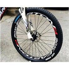 1 tarafı renkli bisiklet tekerlek jantları yansıtıcı çıkartmalar çıkartmaları bisiklet güvenli koruyucu 26/27 inç tekerlek MTB bisiklet aksesuarları