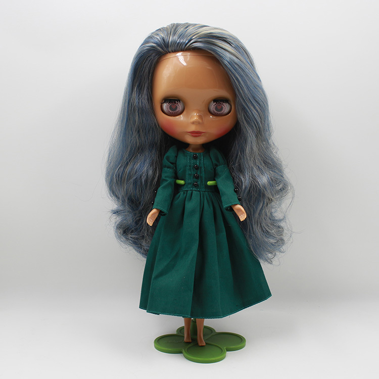 Free shipping Nude Doll For Series No.230BL62213227 Golden mix Blue and White hair Suitable For DIY Change BJD Toy For Girl цена