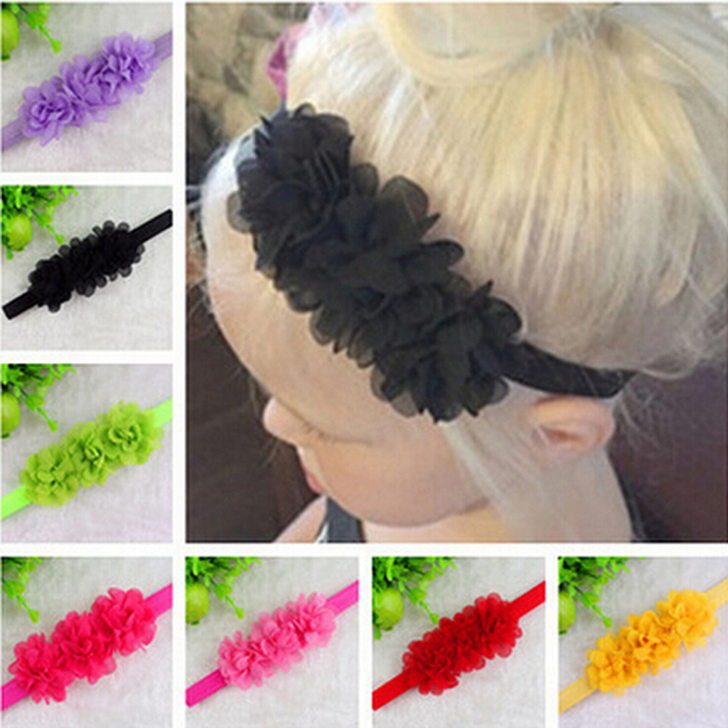 TWDVS Flower Headband Newborn Hair Bandss