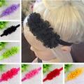 Twdvs bebê recém-nascido flor headband faixas de cabelo do bebê cabelo acessorios para cabelo arcos para o presente de natal barato w -- 001