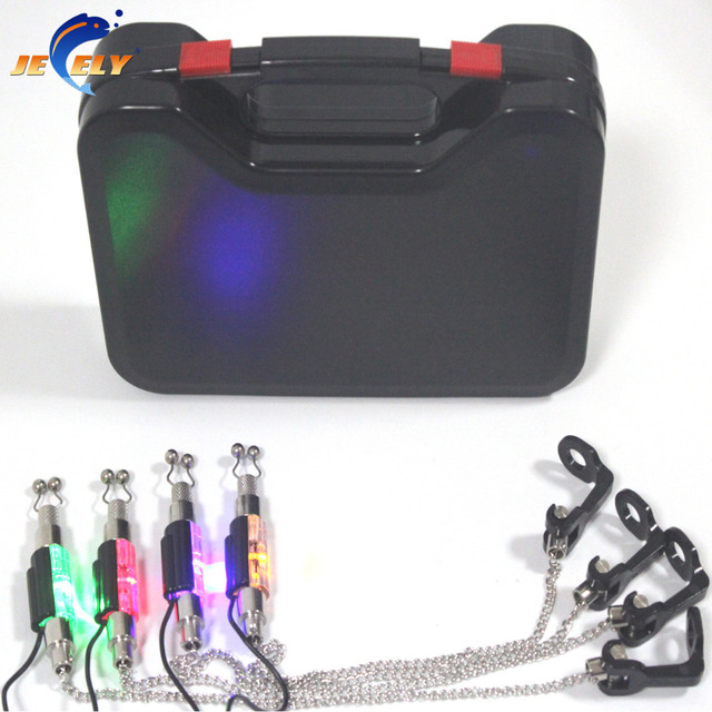 FREE SHIPPING! Manufacturer Fishing illuminated swingers set(4pcsxSW02 with 4 colors in the plastic box) for bite alarm