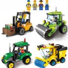 SLPF Civilized City Sweeper Legoings Assembled Model Building Blocks Toys Kit DIY Educational Children Birthday Gifts 102pcs B04