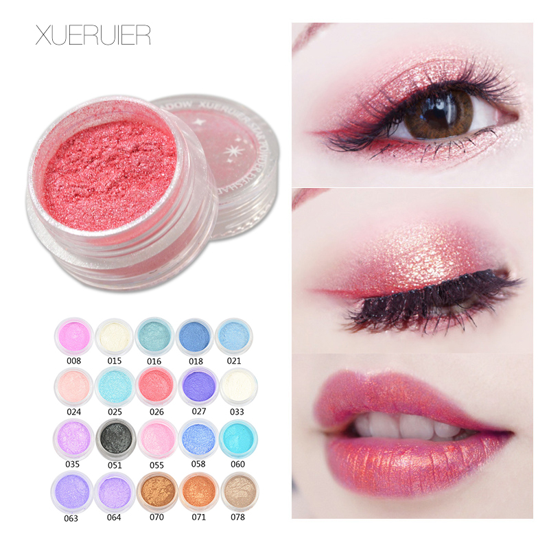 XUERUIER 1 PCS Maquiagem Glitter Shimmer Mineral Eyeshadow Makeup 20 Warna Ukuran Penuh eye shadow Mode
