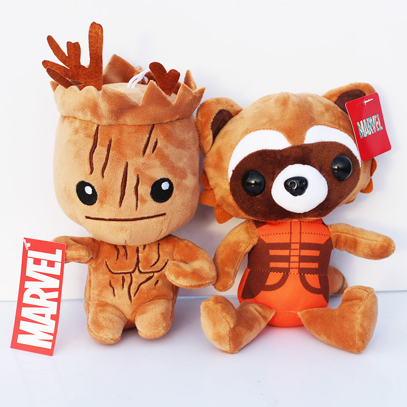 Marvel Movie Guardians of the Galaxy Rocket Groot Plush Toy Stuffed Soft Dolls 20cm Approx