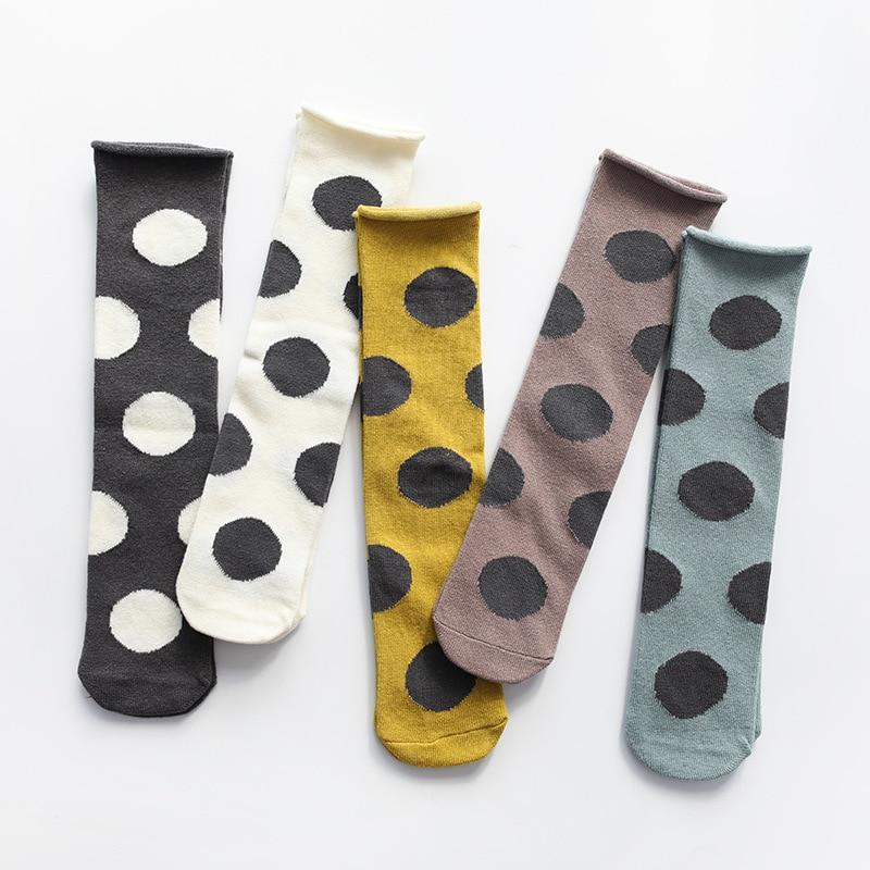 Girls Knee High Socks Baby Children Long Tube Socks Big Dot Spring Kids' Knee Highs Straight Sport Socks For Baby Girls 1-6 Y