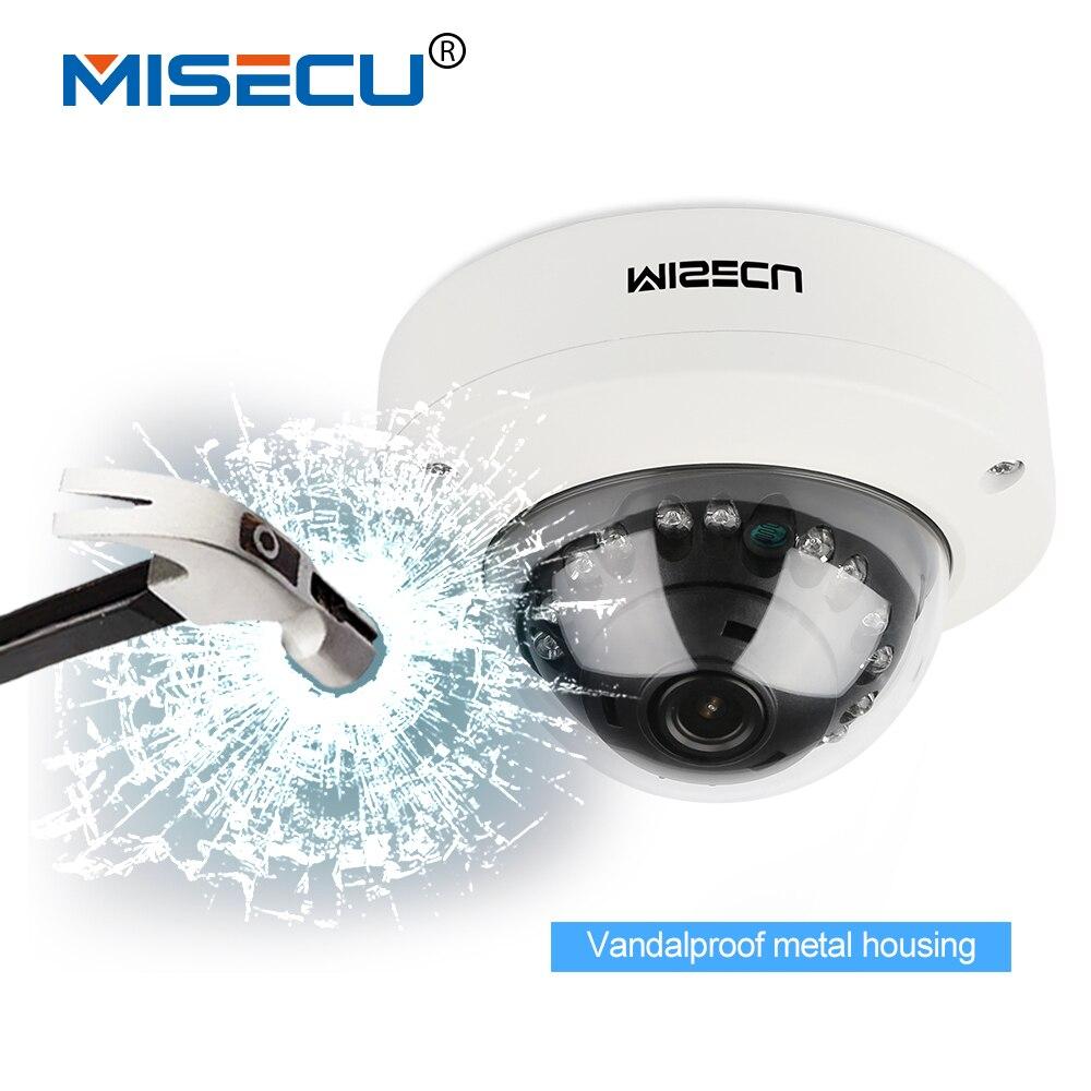 MISECU 2.8mm Sonyimx322 Anti-Vandalisme 48 V POE Caméra Full HD 1080 P Onvif P2P Détection de Mouvement RTSP Métal infrarouge nuit vision caméra