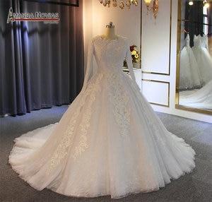 Image 2 - มุสลิมชุดแต่งงาน 2019 ไข่มุกประดับด้วยลูกปัด 100% จริงทำงานคุณภาพสูง