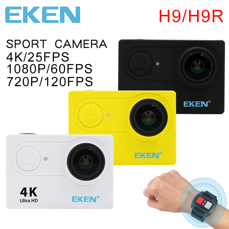 The new 100% original Eken H9/H9R action camera 4K wifi Ultra HD 1080p/60fps 720P/120FPS Go waterproof mini cam sports camera