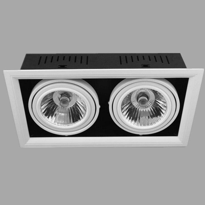 Затемнения светодиодные светильники удара Spot LED 2*15 Вт 30 Вт утопила Лампа Теплый Холодный белый светодиодный крытый фары snyka