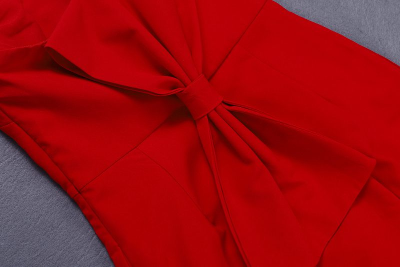 2019 Jumpsuit Body Barboteuses Gosexy Red Rouge Robes Sexy Femmes Élégant Bretelles Arc Piste Moulante Combinaisons Celebrity Salopette Mode 16fSpc17