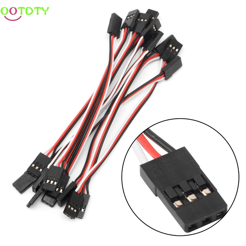 10Pcs 10cm Quadcopter Extension Servo Futaba Lead JR Male To Male Wire Cable RC Accessories For RC  10pcs 500mm servo extension lead wire cable for rc futaba jr male to female 50cm b116
