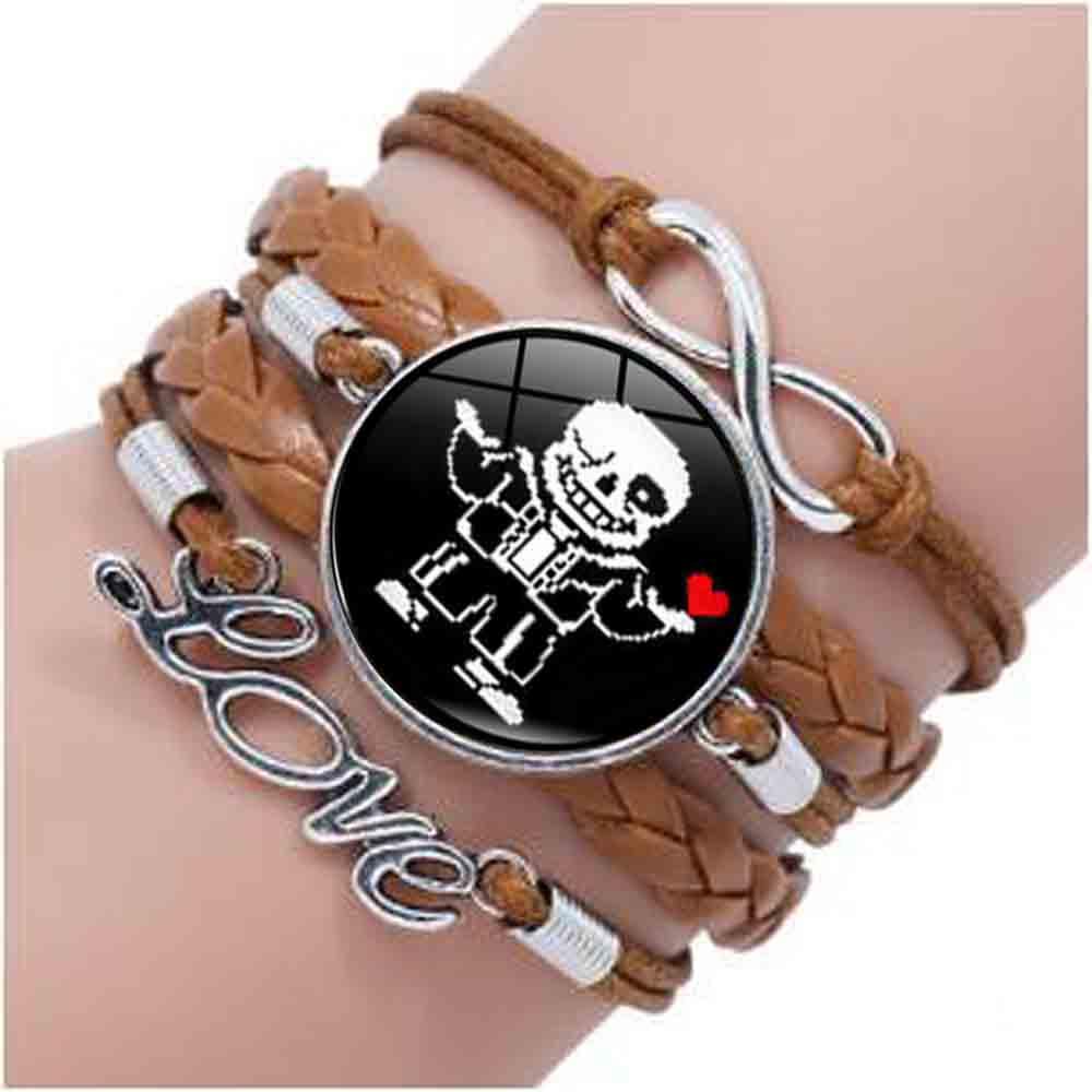 Bracelet Women Undertale-Gamer-Toy Jewelry Heart Fashion Colorfu Photo-Glass Just-Be-Who