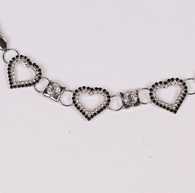 Elegant Heart Shaped Women's Rhinestone Waist Belt