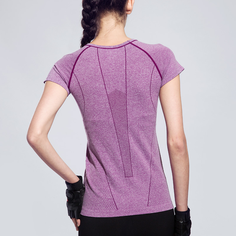 BESGO Women Dry Quick Sweat Yoga T shirt Fitness Running Sports T-shirt Gym Patchwork Exercises Short Sleeve Tops Sportswear