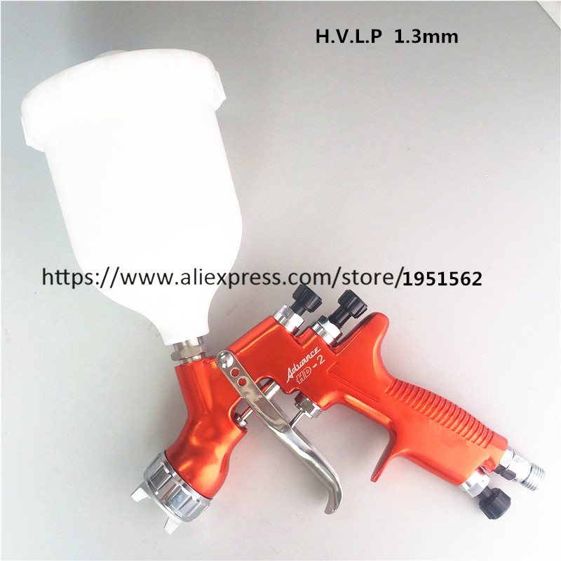 SPRAY GUN H.V.L.P HD-2  Spray Gun Gravity Feed for all Auto Paint ,Topcoat and Touch-Up with 600cc Plastic Pai samer e887 hvlp paint spray gun for all auto paint topcoat and touch up with 600ml plastic paint cup high atomization