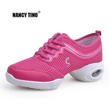 NANCY TINO Professinal Dance Shoes For Girls Sports Soft Outsole Breath women Practice Modern Jazz Sneakers