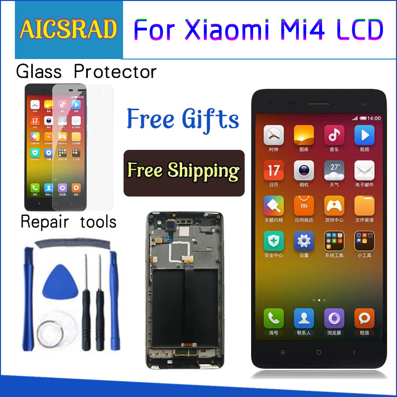 AICSRAD 5.0 1920x1080 LCD Écran Pour L'affichage XIAO mi mi 4 LCD Écran Tactile avec Cadre Remplacer affichage Pour Xiao mi mi 4 mi 4 M4 LCD