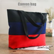 Raged Sheep Soft Canvas Bag Large Capacity Women Shopping Patchwork Casual Hight Simple Design Healthy Tote Hand