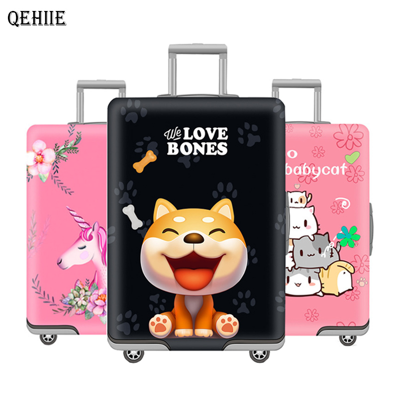 QEHIIE brand suitcase protective cover Cartoon children suitcase 18-32 inch protective cover Travel organizer travel accessories