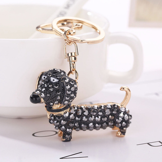 Fashion Dog Dachshund Keychain Bag Charm Pendant Keys Holder Keyring Jewelry For Women Girl Gift Keychain Jewelry New 5
