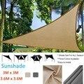 3 м/3 6 м водонепроницаемый треугольный солнцезащитный козырек Защита от солнца наружный навес садовый патио бассейн тент парус тент палатка...