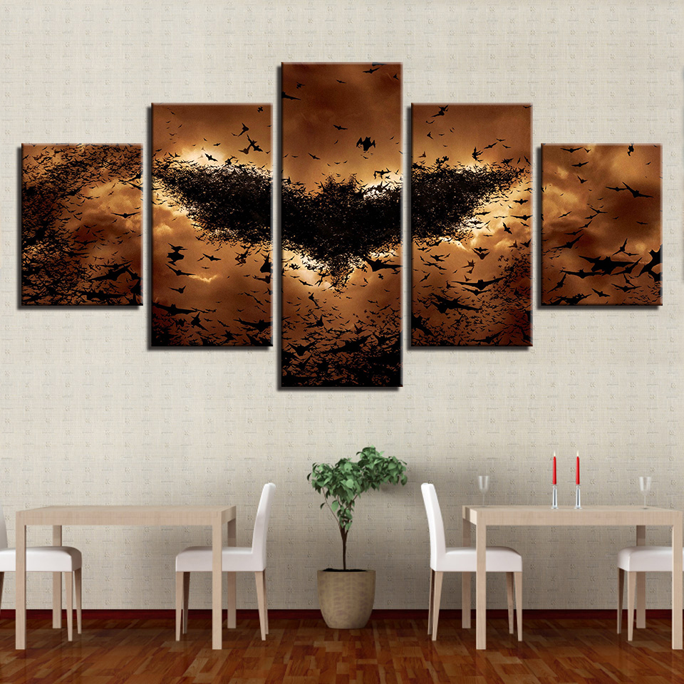 Canvas Paintings Wall Art Hd Prints 5 Pieces Juvenile Boating Pictures Cartoon Abstract Starry Sky Posters Hd Prints Canvas Painting5 Pieces Aliexpress