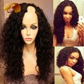 Kinky Curly U Part Wig Brazilian Virgin Hair Lace Front Wigs With Baby Hair For Black Women U Shaped Human Hair Wigs