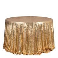 1 ADET Altın Pullu Nakış Masa Örtüsü Için Düğün Otel Parti Köpüklü Masa Örtüsü Yuvarlak Masa Örtüsü Dekorasyon Masa Yerleşimi