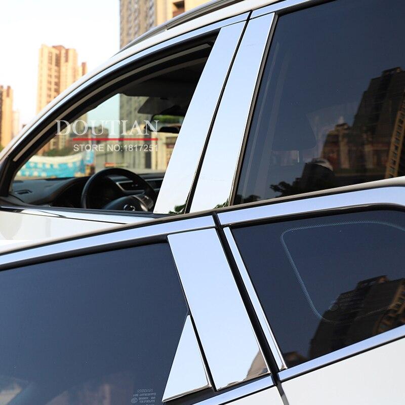 Nouveau En Acier Inoxydable Fenêtre De La Voiture B-piliers Moulure Voiture Style Autocollants Pour nissan qashqai j11 2017 2018 Accessoires 10 pcs