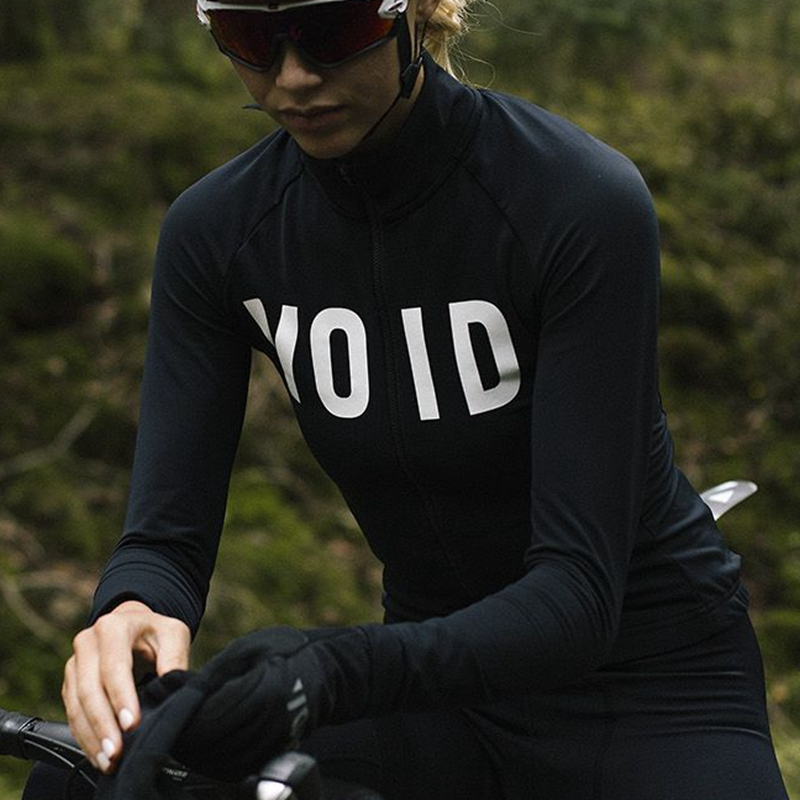 2019 Spring Long sleeved <font><b>cycling</b></font> jersey women Team VOID black <font><b>shirt</b></font> Maillot Ropa Ciclismo <font><b>MTB</b></font> Bike Cycle Tops Breathable wear image
