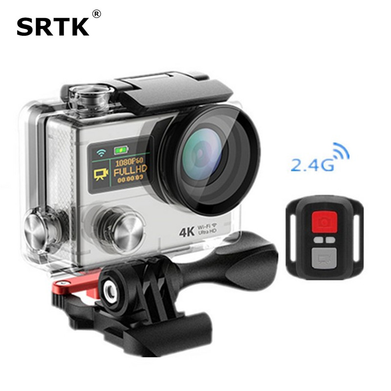 Ultra HD H3R 4K Wifi Action Camera 2 4G Remote Mini font b Camcorder b font