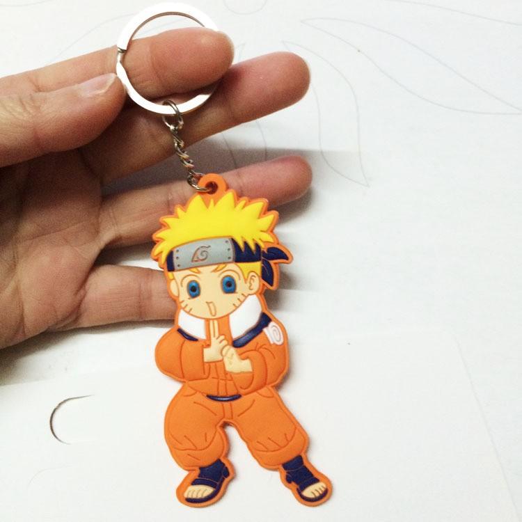 Naruto action figure keychains
